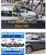 FORD MONDEO MK 4  DRIVERS SIDE FRONT  DOOR TRIM  BLACK GLOSS  2008 - 2012